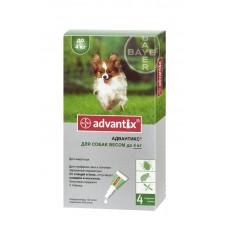 Advantix (Адвантикс®) капли на холку от блох, клещей и комаров  для щенков и собак до 4 кг