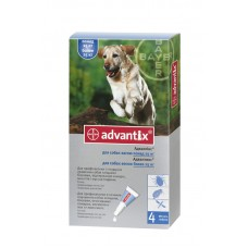 Advantix (Адвантикс®) капли на холку от блох, клещей и комаров для собак более 25 кг