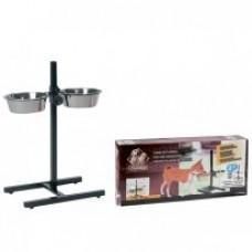 Karlie-Flamingo H-FRAME WITH DISHES подставка металлическая с 2-мя мисками для собак