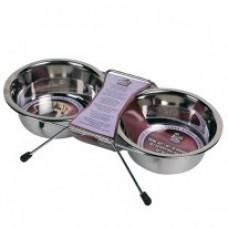 Karlie-Flamingo DINNER SET подставка 2 миски для собак, нержавейка