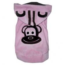 MonkeyDaze ВЕЛЮР (velour pink hoodie) розовая кенгурушка
