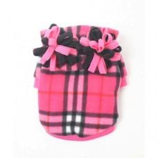MonkeyDaze ПЛАЙД (pink plaid hoodie) розовая кенгурушка