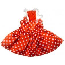 MonkeyDaze ГОРОШЕК (Polka dot dress red) красное платье