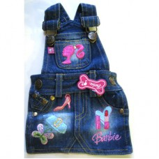 MonkeyDaze БАРБИ (Barbie Denim Overall Dress) котоновый комбез, одежда для собак