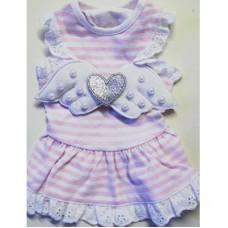 MonkeyDaze АНГЕЛ (Angel Wing Pink) розовое платье в белую полоску