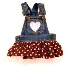 MonkeyDaze ГОРОШЕК (Polka Dot Denium) джинсовое платье