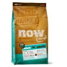 NOW Fresh Adult Large Breed Recipe Grain Fre  для Взрослых собак Крупных пород с Индейкой, Уткой и овощами