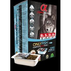 Alpha Spirit ONLY FISH - полувлажный корм для собак