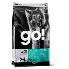 GO! FIT + FREE, Гоу Натурал - Беззерновой корм для Взрослых собак 4 вида мяса(Grain Free Adult Dog Recipe) (34/16)