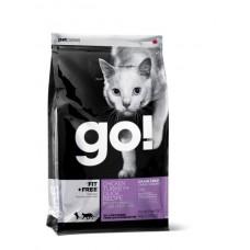 GO! Беззерновой для Котят и Кошек - 4 вида Мяса: Курица, Индейка, Утка и Лосось (Fit + Free Grain Free Chicken, Turkey, Duck Cat Recipe 48/18)