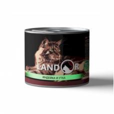 LANDOR TURKEY AND DUCK FOR KITTEN -влажный корм для котят индейка с уткой