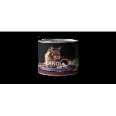 LANDORSENIOR CATS CALF AND HERRING - Полноценный сбалансированный влажный корм для пожилых кошек телятина с сельдью
