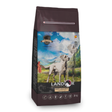 LANDOR PUPPY LARGE BREED Сухой корм для щенков крупных пород с ягненком и рисом