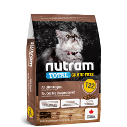 Nutram T22 Total Grain-Free® Turkey & Chiken Cat Food-Беззерновой для кошек и котят с индейкой и курицей